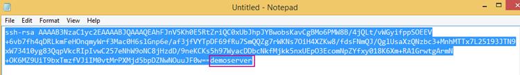 Edit public key add your username