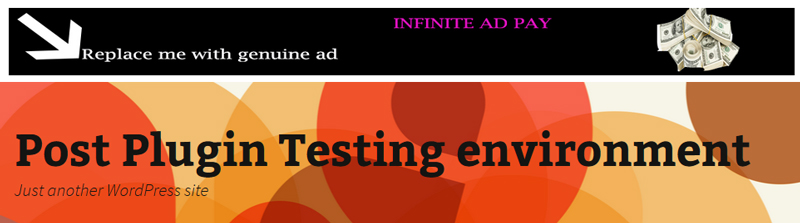 Infinite ad pay sample header ad