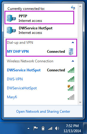 Finally connected to pptp vpn