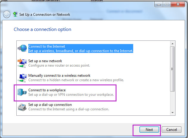 how to connect windows 7 to pptp vpn