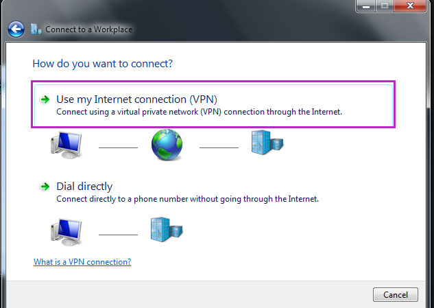 connect your windows 7 machine to pptp vpn