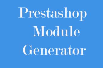 Prestashop module generator